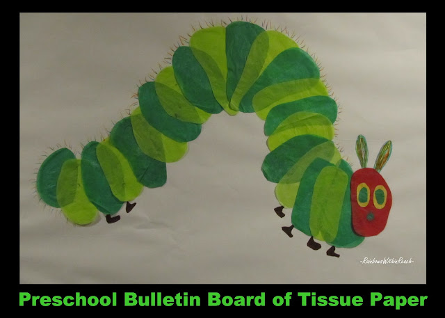 photo of: Preschool Bulletin Board for Very Hungry Caterpillar (via RainbowsWithinReach) 