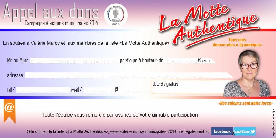 """""""La Motte Autentique"""" appel aux dons"""