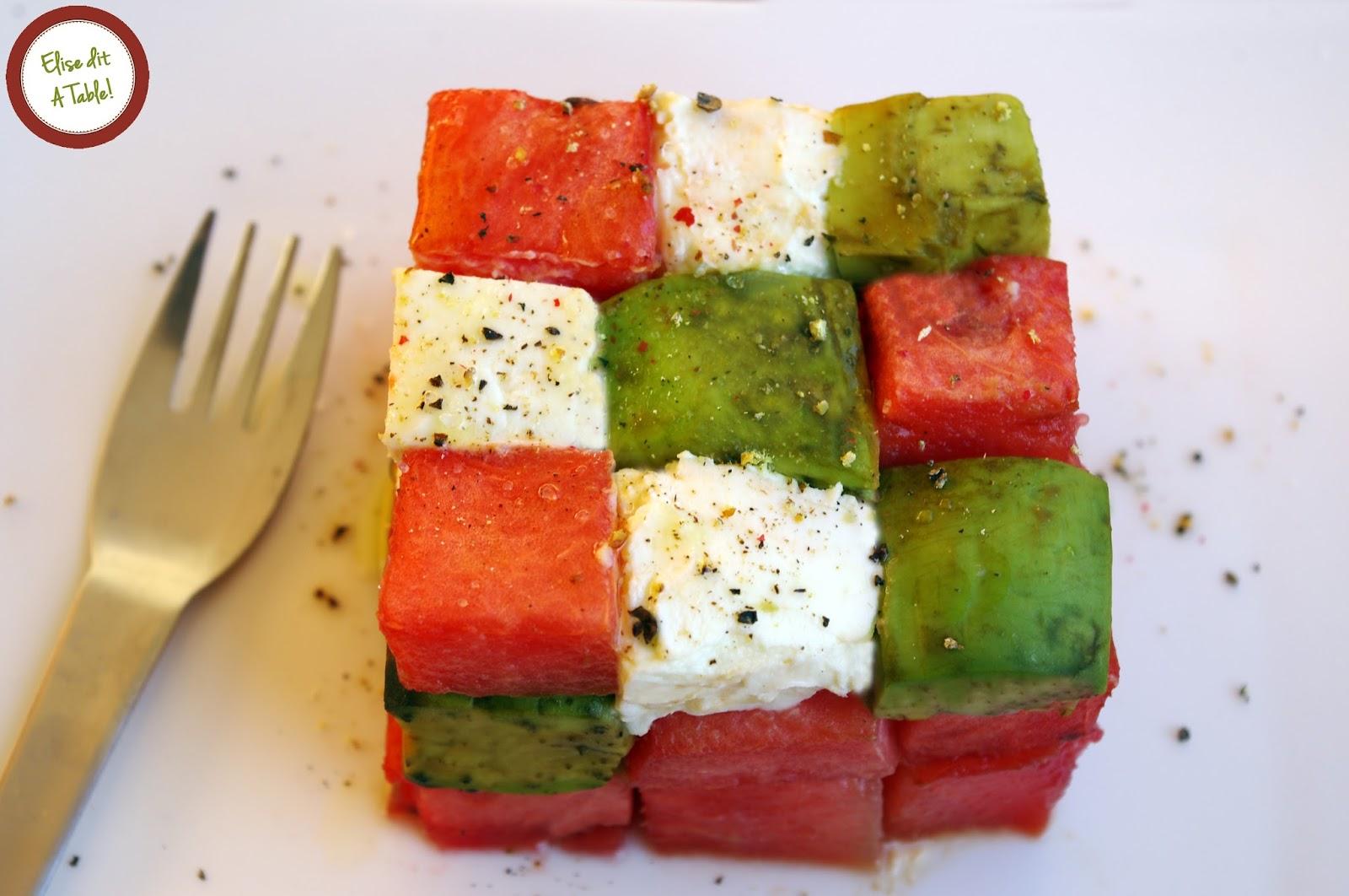 recette salade rubik's cube
