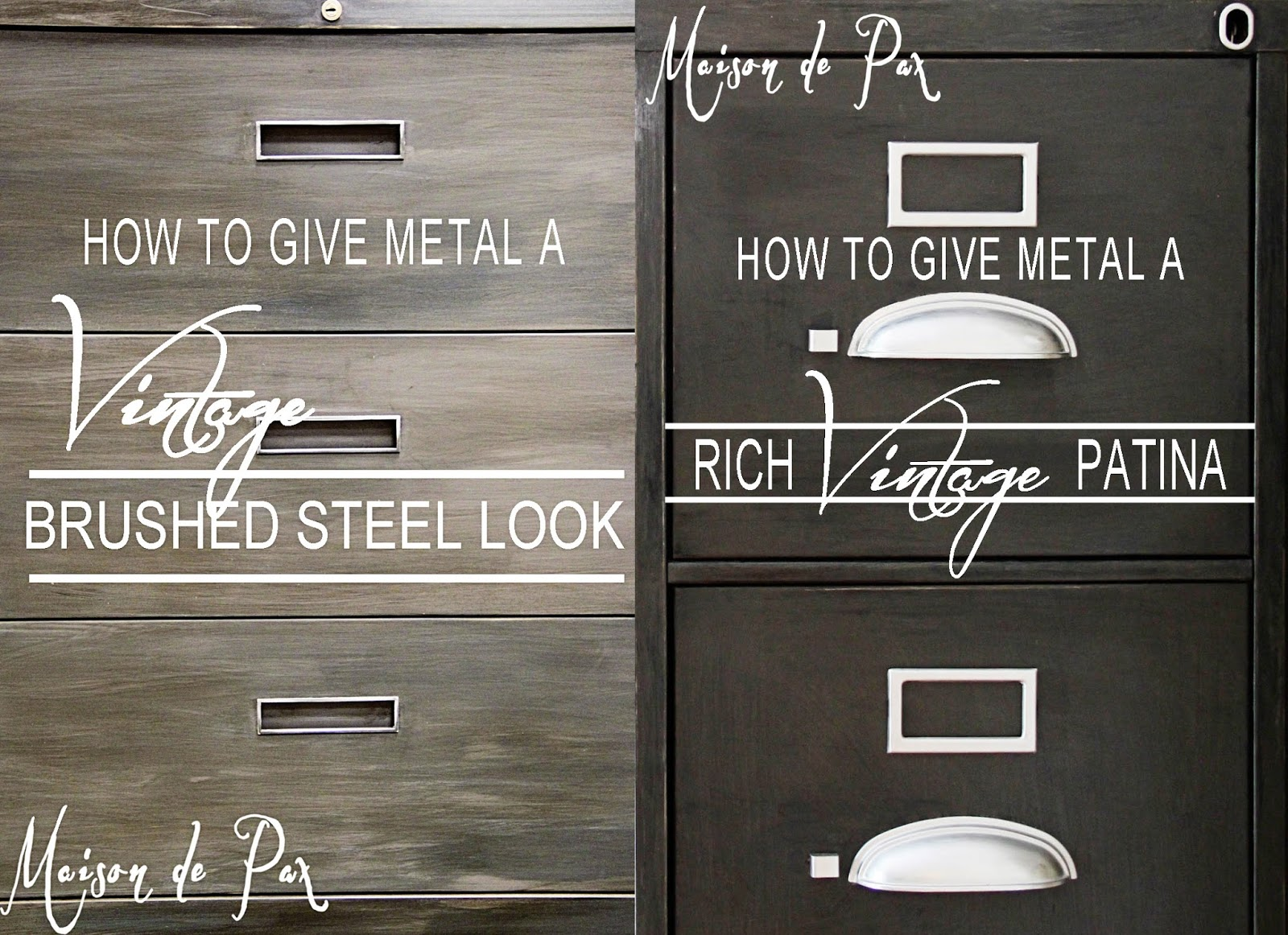 How to Give Metal a Brushed Steel Look - Maison de Pax