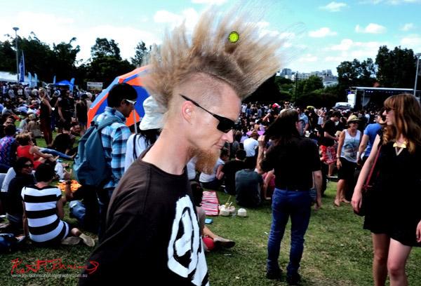 Mohawk hairstyle, Newtown Festival, Fujifilm X-Pro1