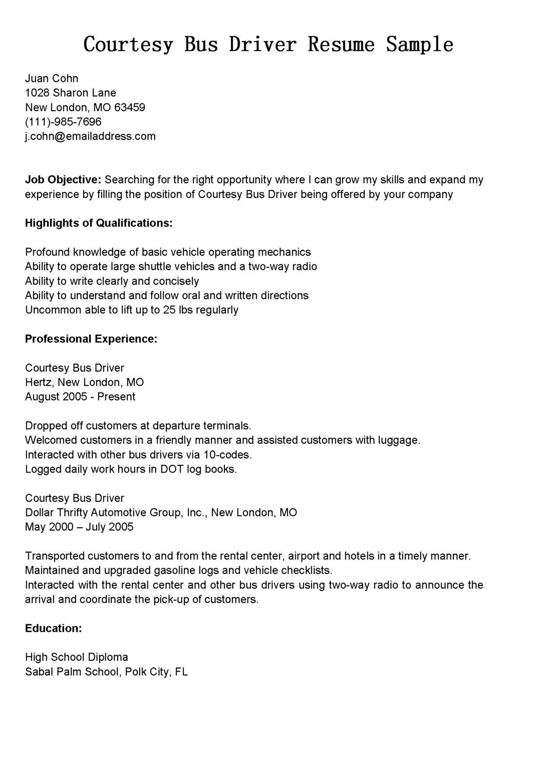 package handler resume sample