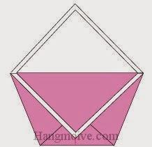 Bước 7: Hoàn thành cách xếp cái túi xách bằng giấy theo phong cách origami.