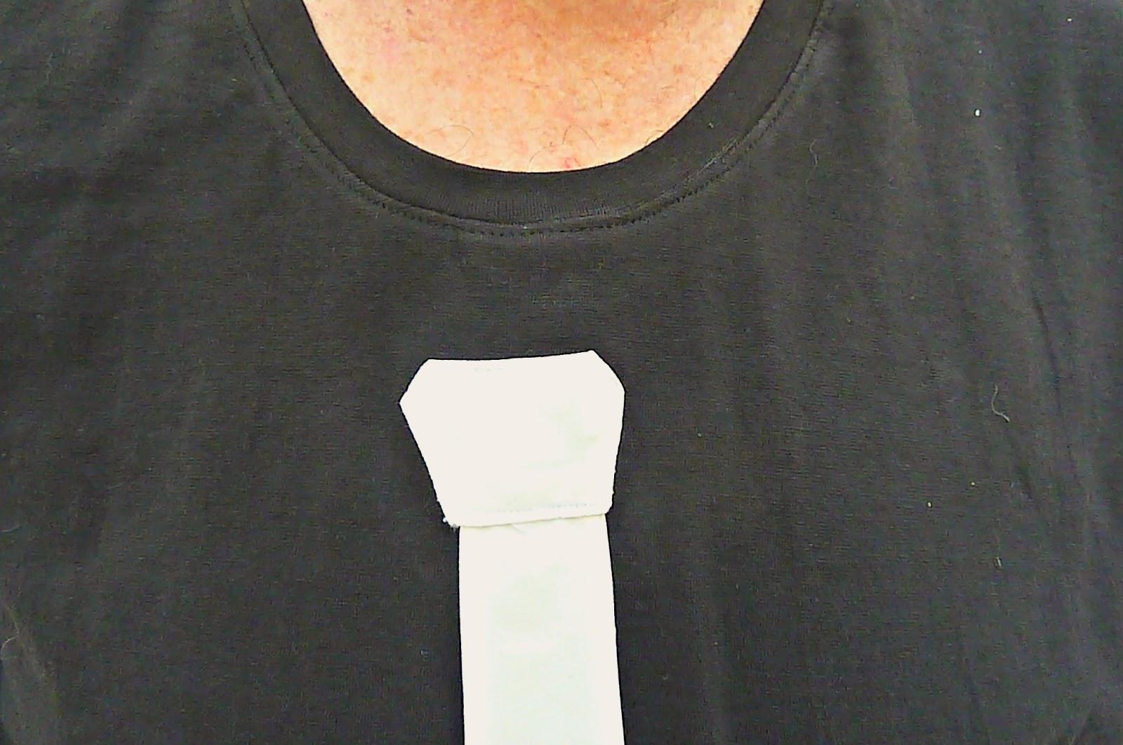 tie t shirt, fancy t shirt, white tie