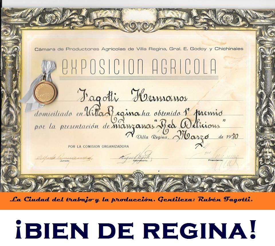 RECONOCIMIENTOS AL TRABAJO Y LA PRODUCCIÓN EN VILLA REGINA. CREADORES DE RIQUEZA.