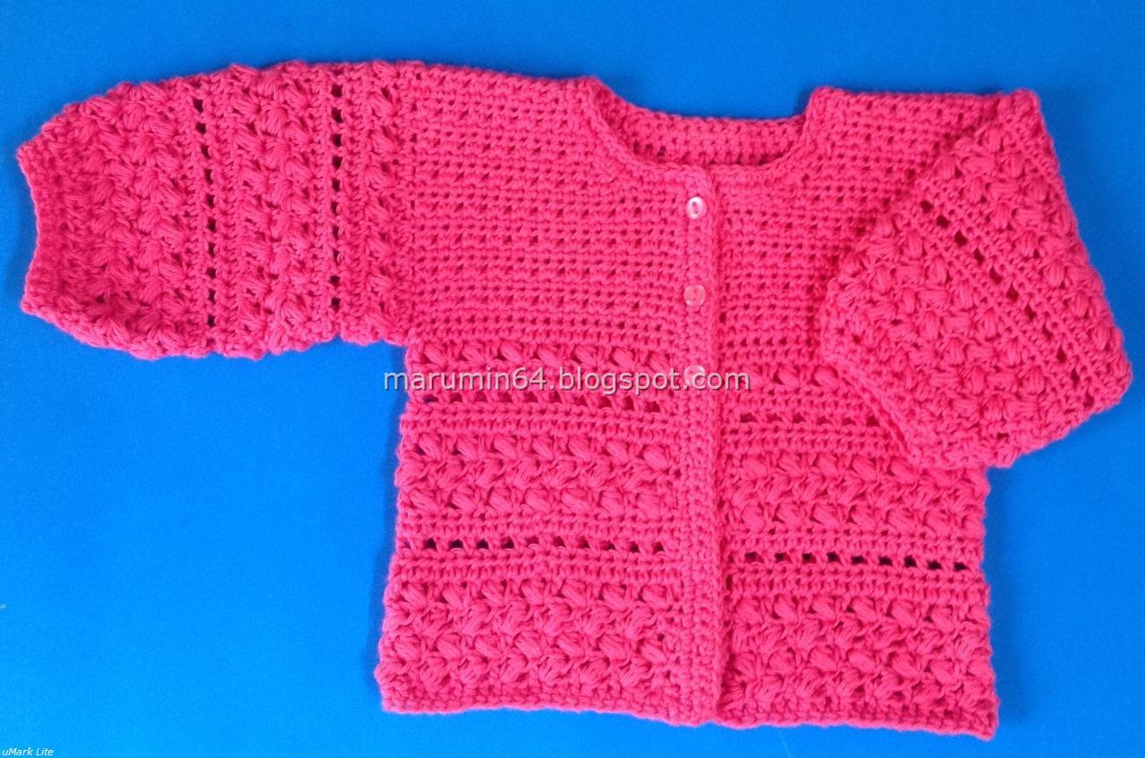 Marumin Crochet: CA 004 - Cardigan en Fucsia Patrón / Cardigan in ...