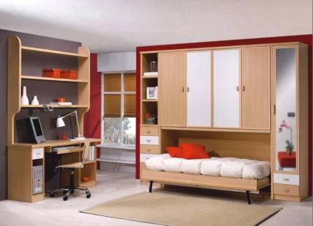 Cama mesa abatible camas autoportantes camas abatibles - Cama armario plegable ...