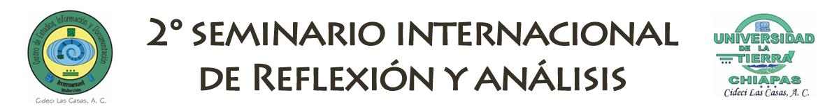 Segundo Seminario Internacional CIDECI