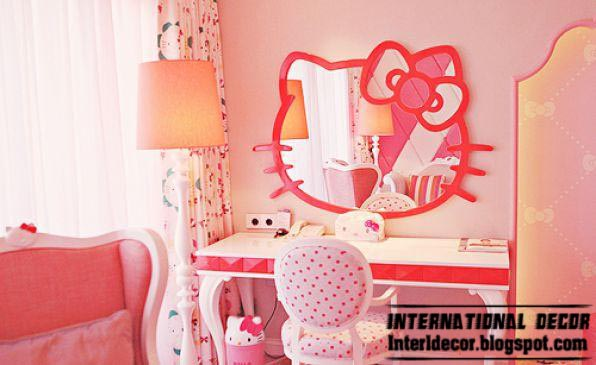 Hello Kitty Girls Bedroom Themes Designs Ideas