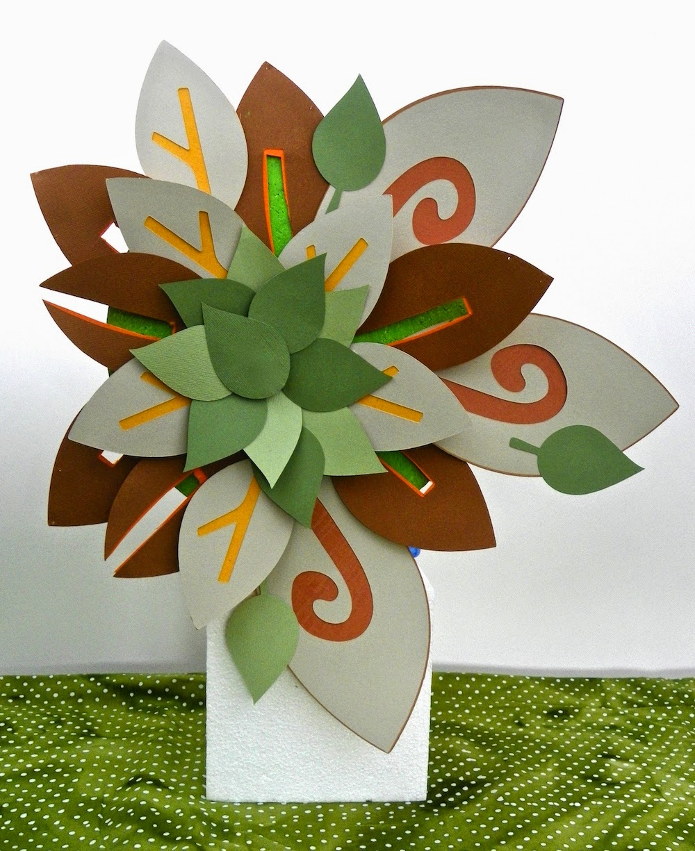 paper flower fall wreath lisa fulmer