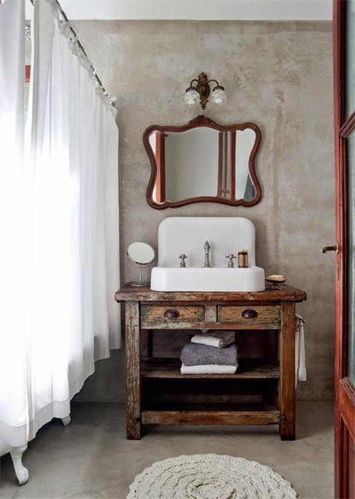 Decotips consigue un look vintage en el ba o virlova style - Cortinas estilo vintage ...