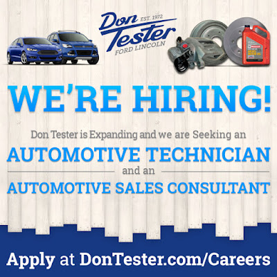 Sales Position Available at Don Tester Ford Lincoln