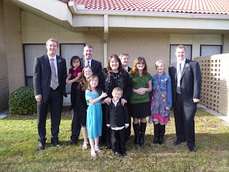Elder Harper and Rassmussen with Family in Blythwood