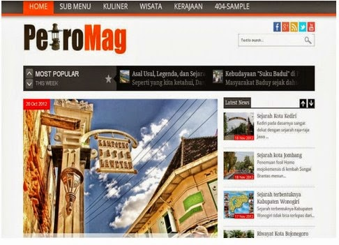 PetroMag Responsive Blogger Template Free Download