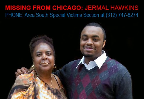 Jermal Hawkins with his mother.
