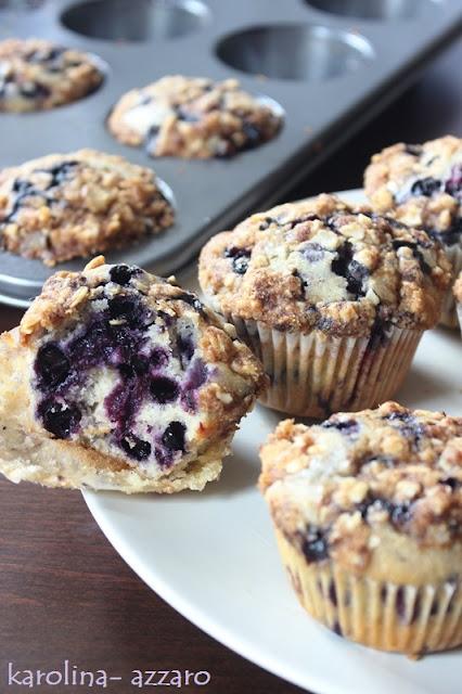 Čučoriedkové Muffiny s posýpkou