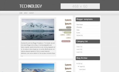 Technology Blogspot Blogger Layout Theme
