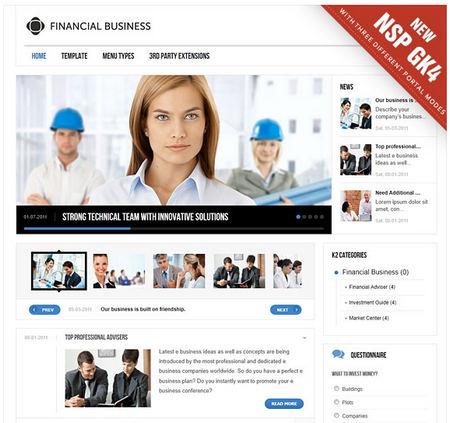 Finance Business v2.9.1 Gavick Joomla 2.5 Template - Retail ...