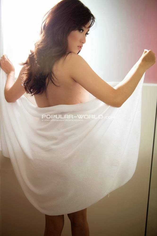 Profile and Photoshoot Virly Virginia Sexy Model Popular Magazine Januari 2014