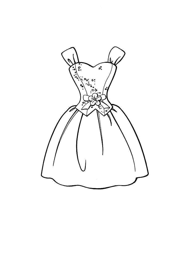 desenhos para colorir de roupas femininas