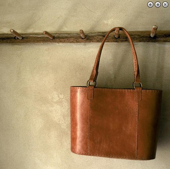 Nkuku Savannah Leather Shopper