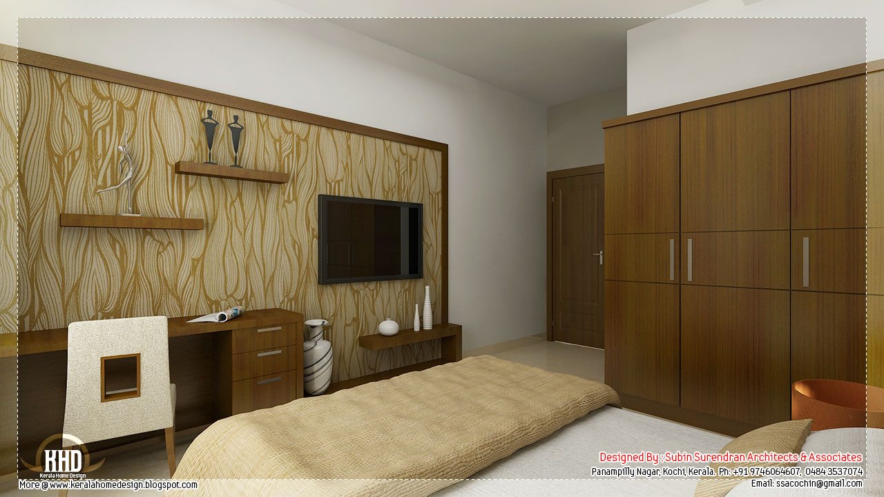 Beautiful interior design ideas kerala home for Interior designs of bedrooms pictures