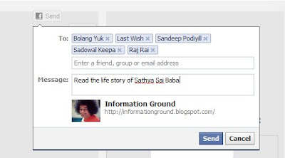 Facebook Send Button Example