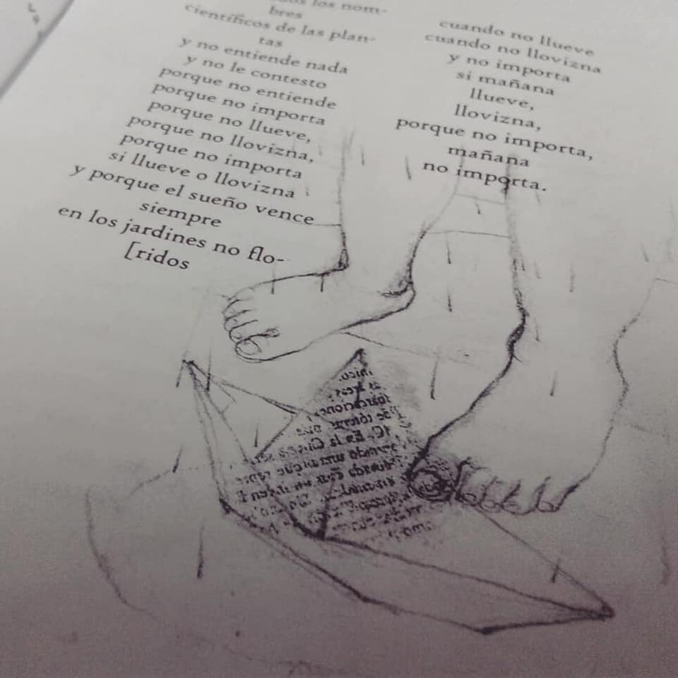 """Mis ilustraciones en: """"Una cosa que dispara"""" poemario de Martín Dominguez"""