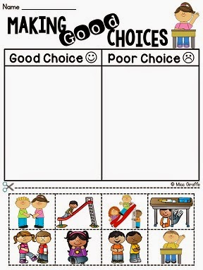 Printables Making Good Decisions Worksheets miss giraffes class how to tackle tattling in the classroom making good choices management activity and other fun ideas for back school behavior talks