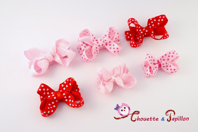 barrettes noeuds bébés / enfants - barrettes anti-glisse