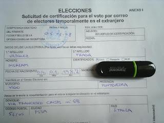 Elecciones 2008, voto por correo