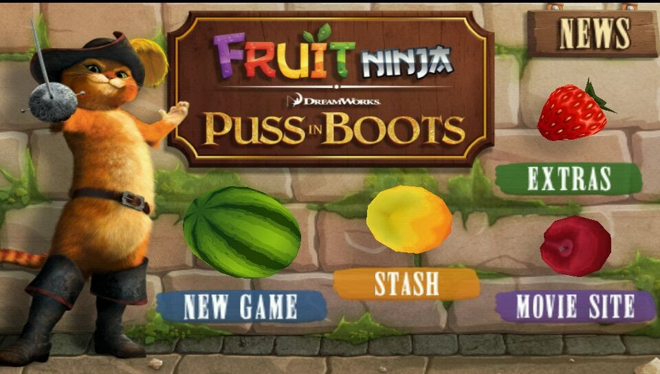 Скачать Fruit Ninja Puss In Boots 1.0 На Андроид