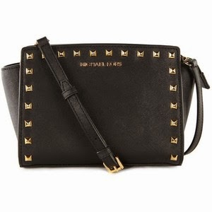 Michael Kors Black Bag With Gold Studs All About Credit ...