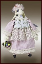 Lilybeth Bunny and babies art doll pattern
