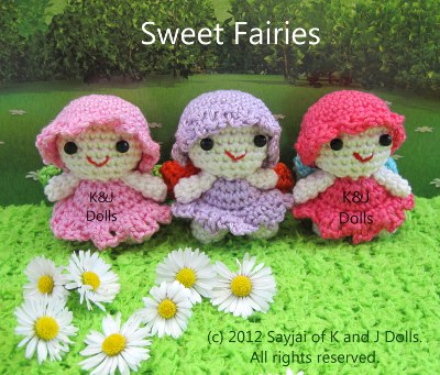 Amigurumi Fairy Free Pattern : Sayjai amigurumi crochet patterns ~ K and J Dolls / K and ...