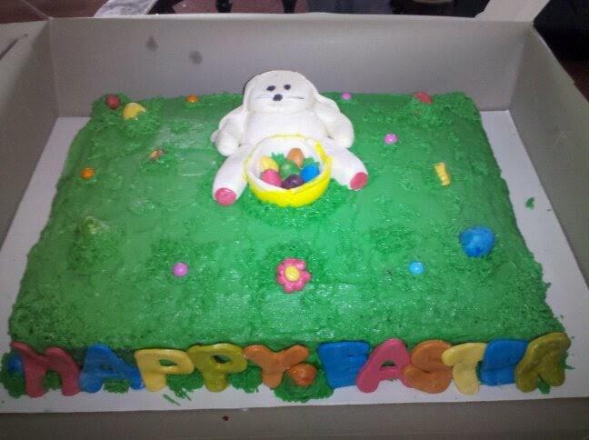 fondant cakes for easter. Easter 1/2 Sheet Cake