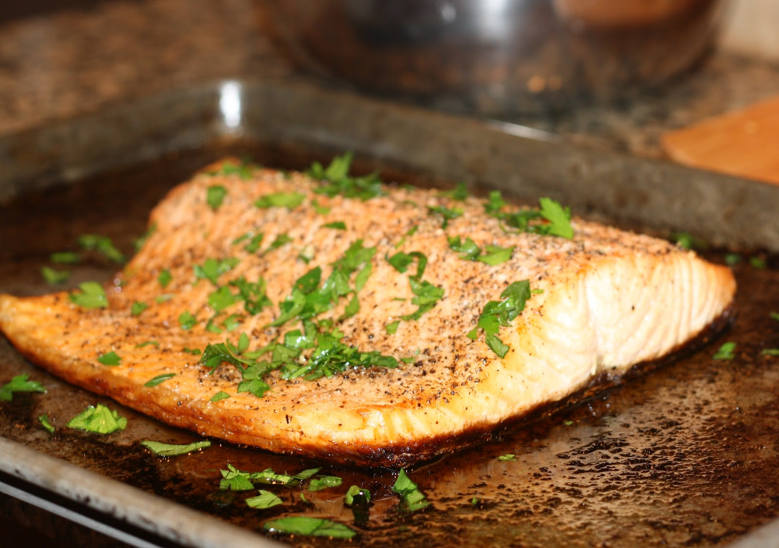 what's for dinner?: roasted salmon with butter... 20 minutes