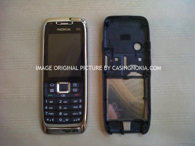 Casing Nokia E51 Silver