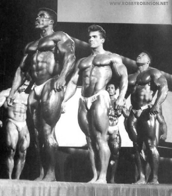 ROBBY ROBINSON, BOB PARIS, PHIL HILL - NIAGARA FALLS PRO 1988