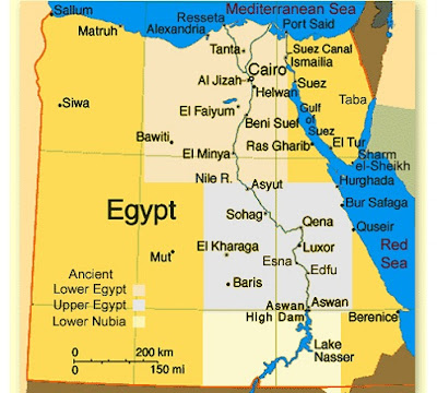 Egypt Map Pictures and Information