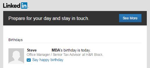 LinkedIn updates email
