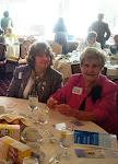 NJSFWC President Linda Babeuf (left) with Gloria Sammis