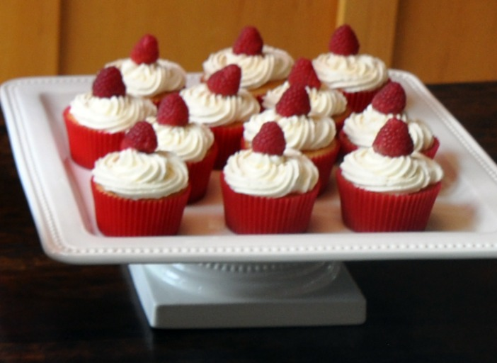 A La Graham White Chocolate Cupcakes With Raspberry