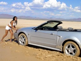 Mustang Stuck Cars - Caribbean girls Stuck