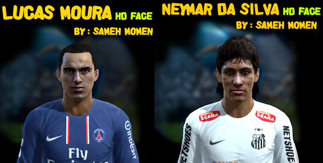 Lucas e Neymar Faces - PES 2013
