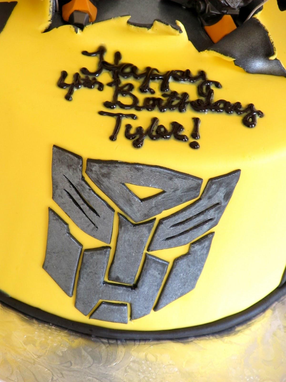 How To Make A Transformer Birthday Cake