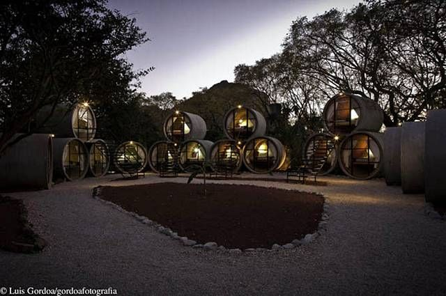 Hotel of Pipes In Mexico