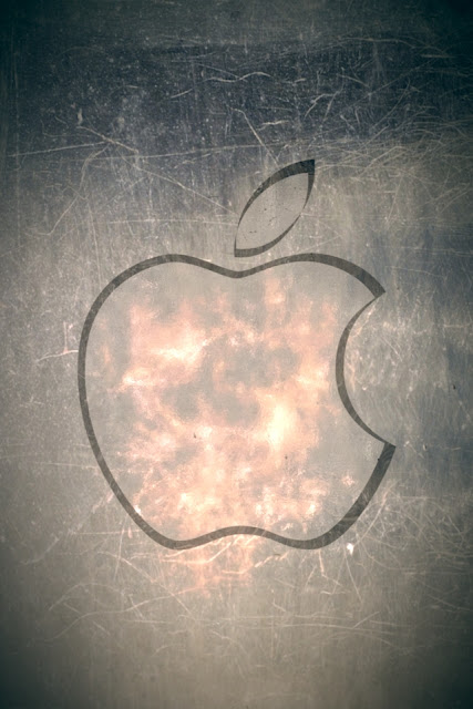 Apple Ice Logo iPhone Wallpaper By TipTechNews.com
