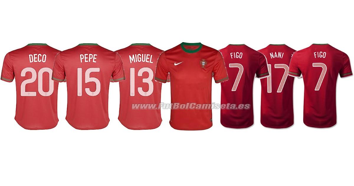 camisetas futbol portugal