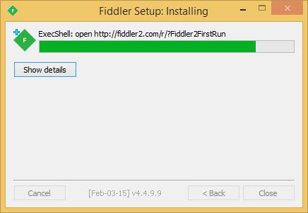Fiddler Installation 3